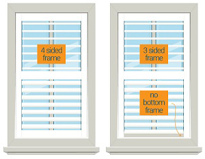 Plantation Shutter 3 and 4 sided Frame