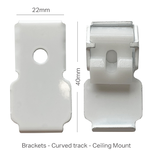 Bracket for Ceiling Mounted Curved Track