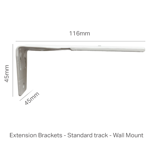 Extension wall mount bracket - Standard Track