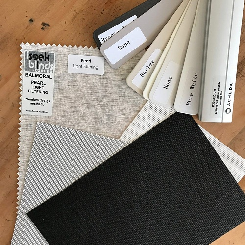iseekblinds Samples pack including Bottom rail swatch