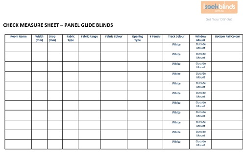 Panel Glide Blinds How To Measure Iseek Blinds