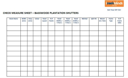 How To Measure Plantation Shutters Basswood Iseek Blinds