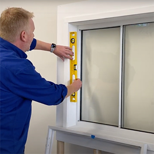 Installing plantation shutters - ensure sides are level first