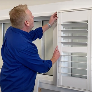 Plantation Shutters - Ensure everything is level