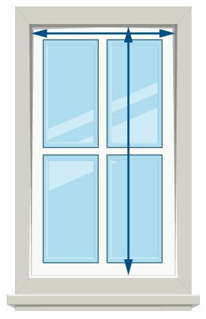 How to Measure Roller Blinds - Inside Mount