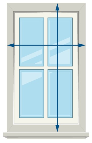 How to Measure Roller Blinds - Outside Mount