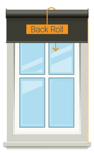 Back Roller direction - Roller Blind
