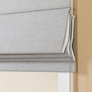 Roman Blind fabric covered bottom rail